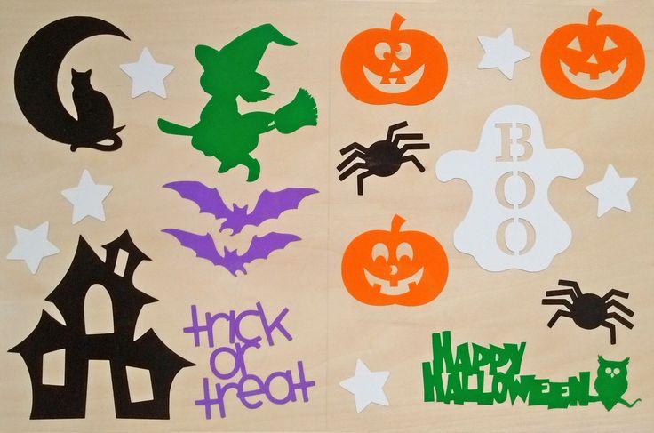 Halloween Window Clings, Halloween window decorations, Halloween window decals,  window cling, window decal, Halloween, Halloween decor by OutTheDoorDecor on Etsy https://www.etsy.com/listing/480498733/halloween-window-clings-halloween-window