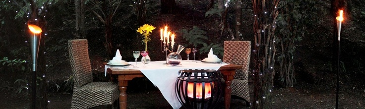 fine dining in the New Zealand bush setting Bushland Park Lodge & Retreat Whangamata
