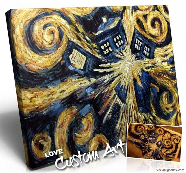 You really like something you have seen on TV? Like this customer who loved the Dr. Who painting so much they had it painted! Also watch the video about it on our YouTube Channel: https://www.youtube.com/watch?v=r-DUVxDu6s8