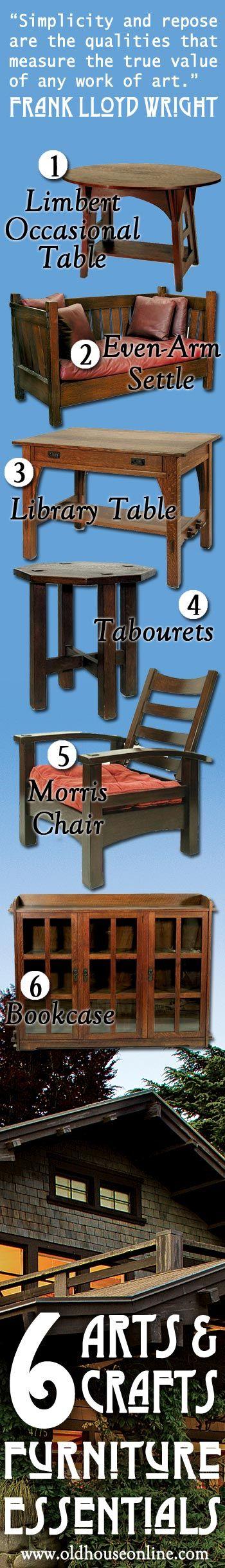 6 Arts U0026 Crafts Furniture Essentials. Craftsman ...