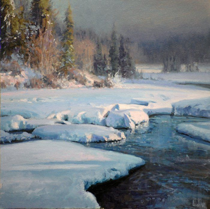 17 Best images about Oil Painting - Snow Landscapes on ...