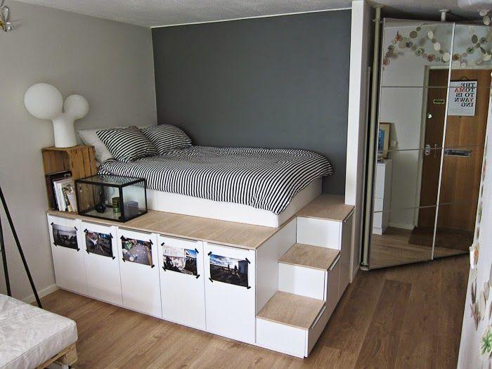 Hacer camas con espacio para almacenar   Decorar tu casa es facilisimo.com