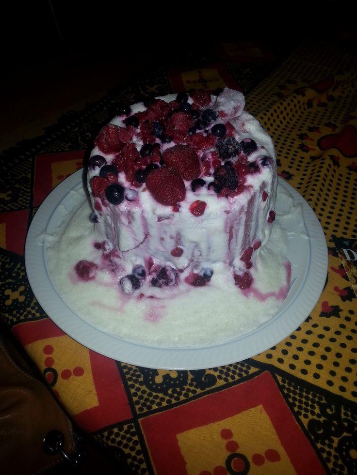 watermeloen/yoghurt ijstaart
