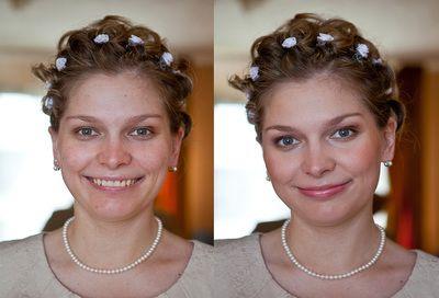 Braut Make-up - Hochzeitsfotograf   Braut Make-up Artist    Before & After   Vorher und Nachher Makeup