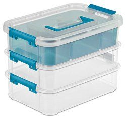 I adore these adjustable storage containers to separate out my pencils, markers, gel pens and then the top can be used for your erasers and sharpeners.