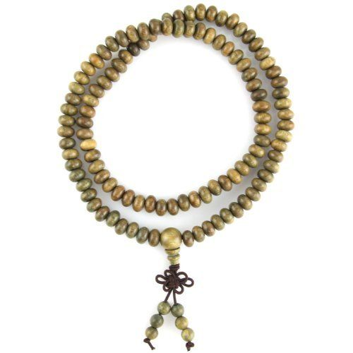 """Sandalwood Prayer Beads - Good Luck Knot Pendant - Aromatic Smell - Stretch Necklace Evolatree. $16.99. Necklace Size: 20"""" (unstretched). Pendant Size: 2"""" x 0.6"""""""