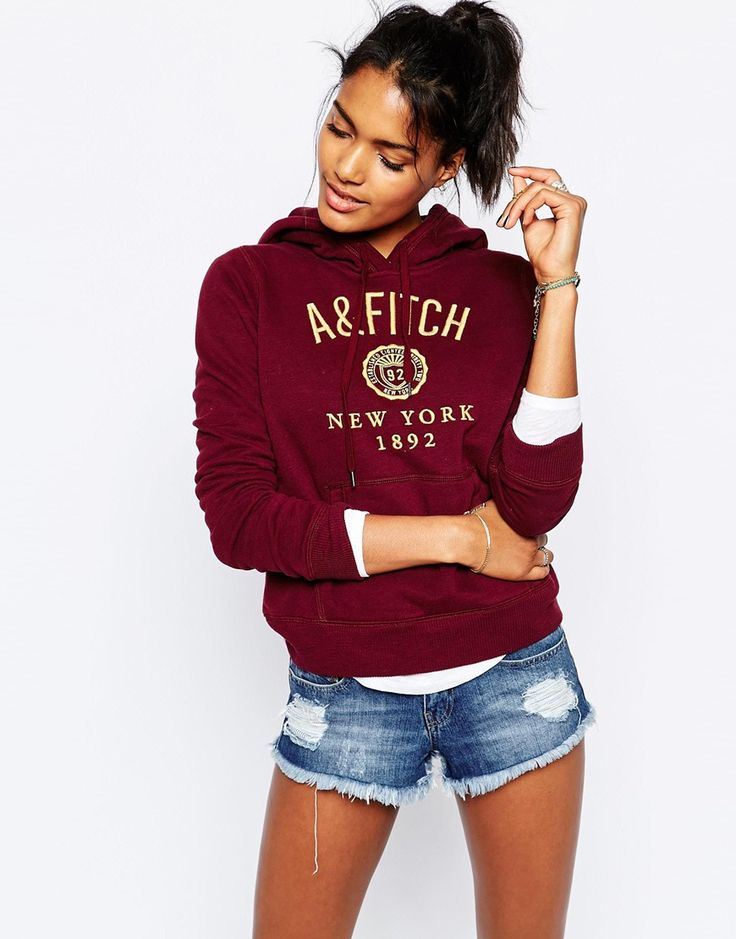 Image 1 of Abercrombie & Fitch Logo New York Hoodie