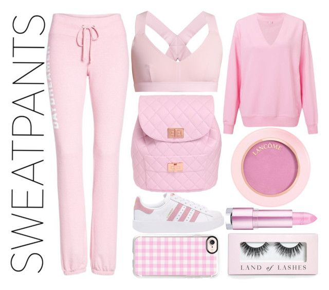 Pinkie by slytheriner on Polyvore featuring Miss Selfridge, Dream Scene, No Ka'Oi, adidas Originals, Design Inverso, Casetify, Boohoo and sweatpants