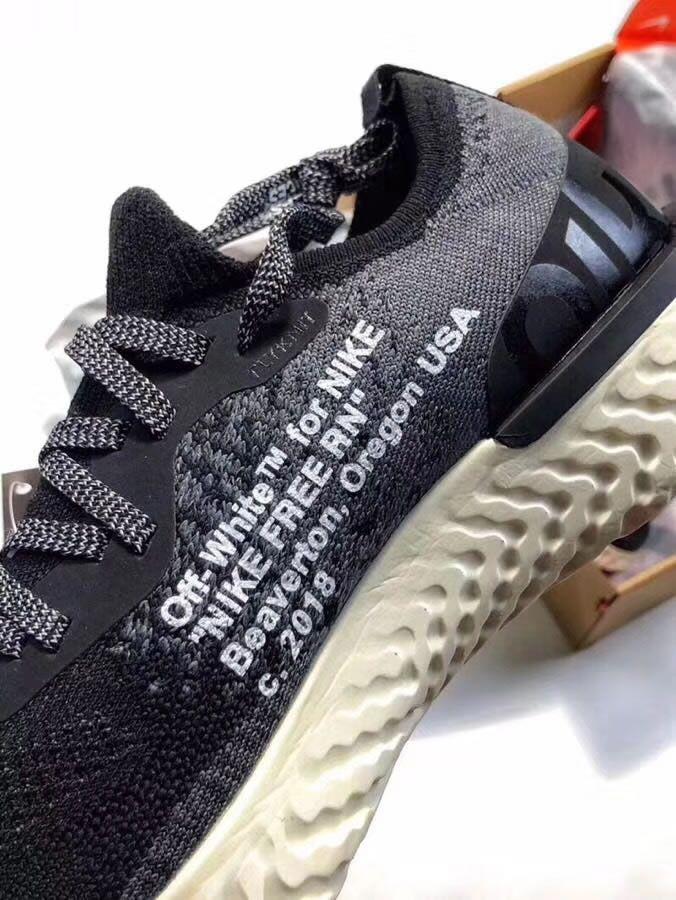 2c995848de5d1 Off White x Nike Epic React Flyknit Black White AQ0067-010