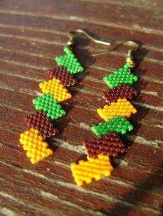 Zsuwel Őszi cikkcakk fülbevaló #earrings #autumn #zsuwel