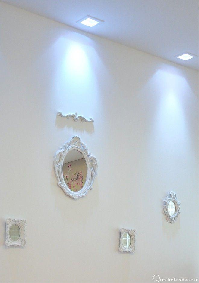 espelhos provençal iluminação teto