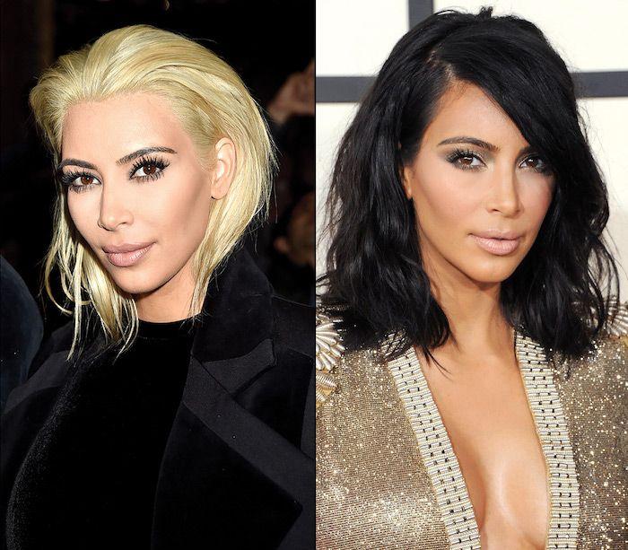 Von färben haare schwarz auf blond Haare blond