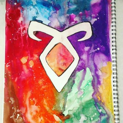 Create the passion.. #mycreation #mortalinstruments #mortal #instruments #rune #angelicrune #shadowhunters #color #colour #water #watercolor #watercoloring #waterpaint #waterpainting