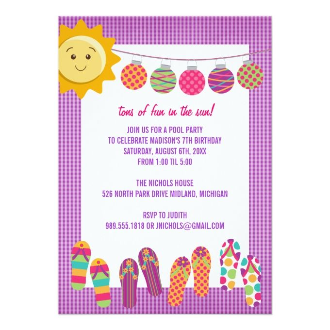 806 best Pool Party Invitations images – Party Invitation Sites