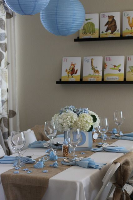 """Photo 2 of 21: Shabby Chic Boy / Baby Shower/Sip & See """"Welcome Baby Brayden"""" 