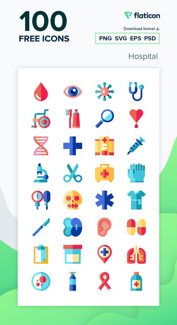 100 Free Vector Icons Of Hospital Designed By Freepik Hospital Icon Vector Free Icon