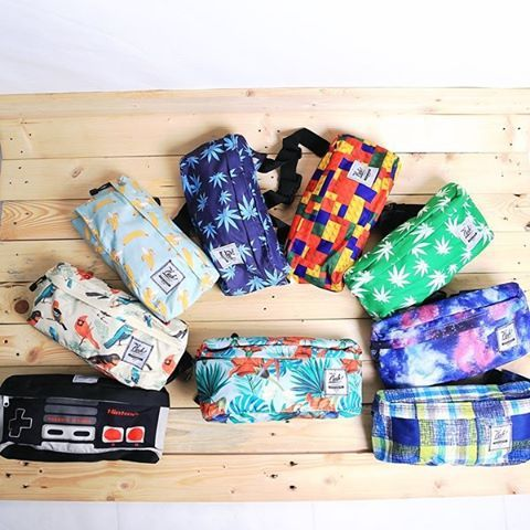 Our waistbag collection with unique print theme, IDR 200.000, For order don't be shy to contact us on: Whatsapp/Phone Call: +62-87722077877, Line: sfkgoods, BBM: 7da65779, #waistbag #hipbag #hipster #bag #cub #cubtraveler #travellife #vscocam #localbrand #vsco #products #outdoors #traveler #traveling