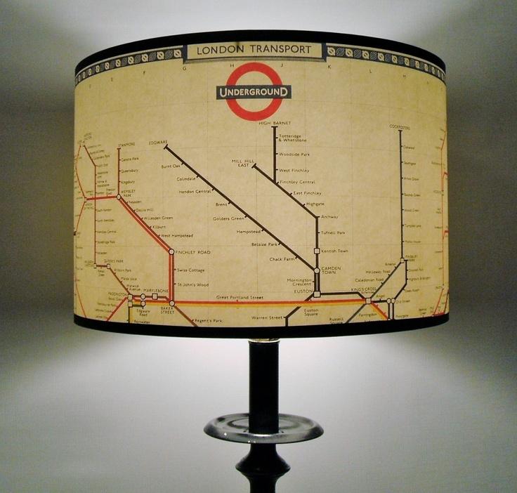 Mind The Gap London underground map lamp