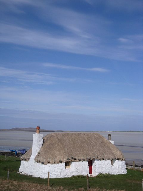 Thatched house, North Uist, Outer Hebrides, Scotland