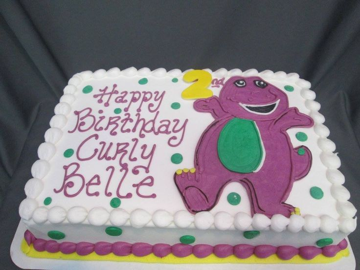 Barney birthday cake                                                                                                                                                                                 More