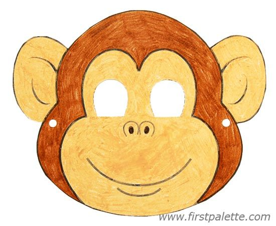 woodland animal masks template - printable animal masks craft kids 39 crafts firstpalette