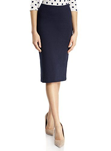 317c0a712 oodji Ultra Women's Jersey Pencil Skirt Blue UK 8 / EU 38 / S ...