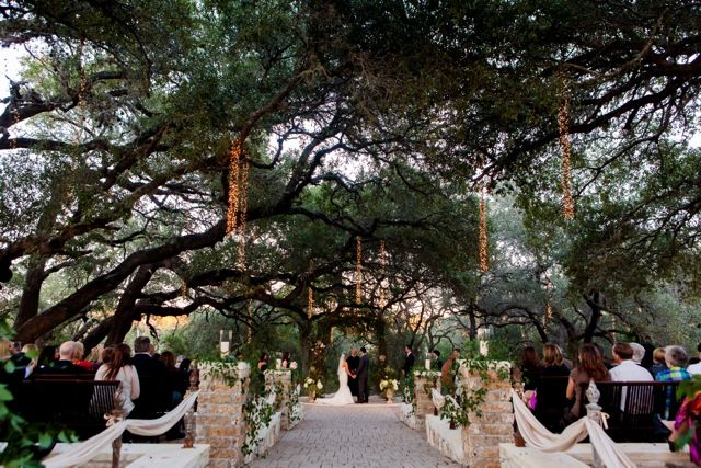 Site At The Sacred Oaks Venue At Camp Lucy In Dripping Springs