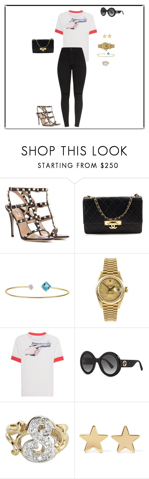 """""""Untitled #54"""" by sb187 ❤ liked on Polyvore featuring Valentino, Chanel, Rolex, Off-White, Gucci, Vintage and Jennifer Meyer Jewelry"""
