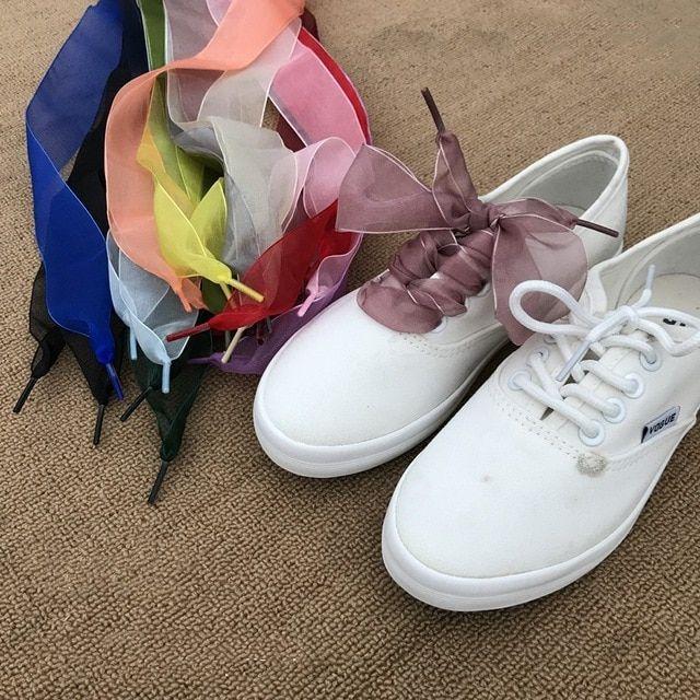 Shoe laces, Organza shoes, Lace sneakers