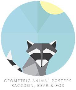 geometric animal posters