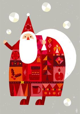 Mod Santa by illustrator Suzuki Tomoko