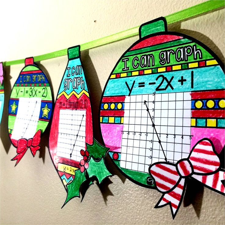 Graphing Linear Equations Ornaments In This Collaborative Activity For The Holidays Students Graph Lines
