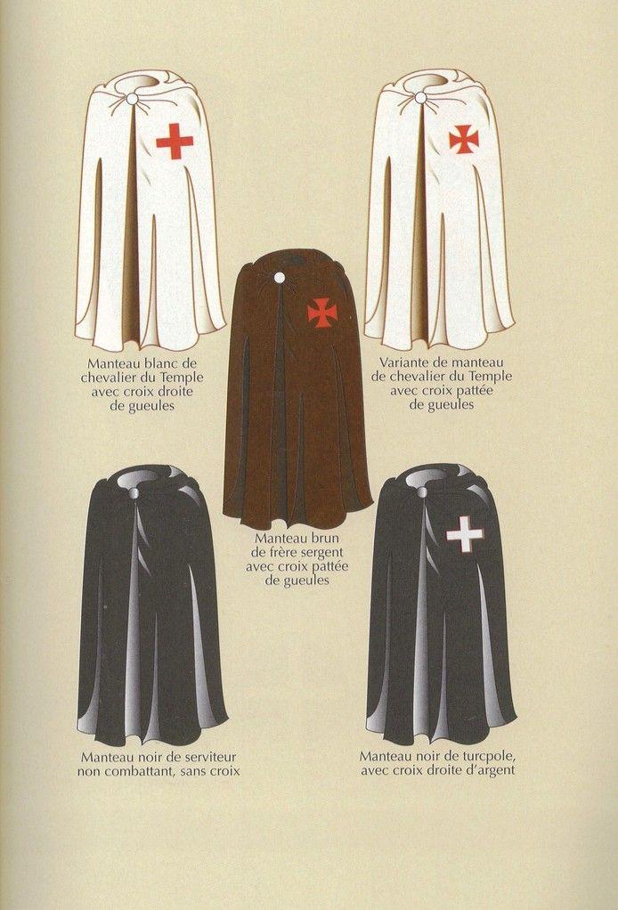 Bernard Marillier - Capas de templario indicando función y rango