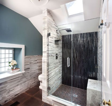 nice bathroom: Bathroom Design, Blue Wall Colors, Bill Bathroom, Bathroom Renovation, Bathroom Remodel, Bathroom Ideas, Bathroom Shower, Contemporary Bathroom, Bathroom Tile