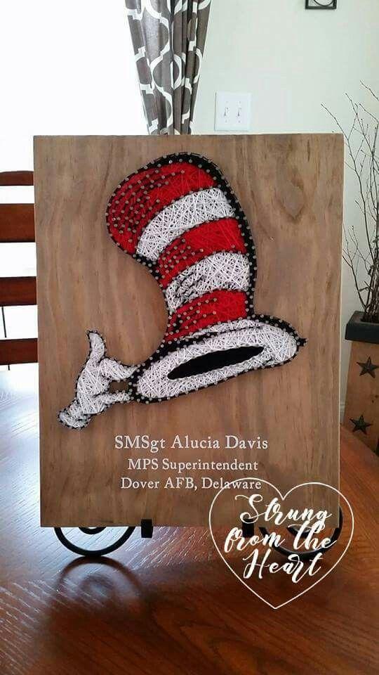 Dr Seuss String art sign by Strung