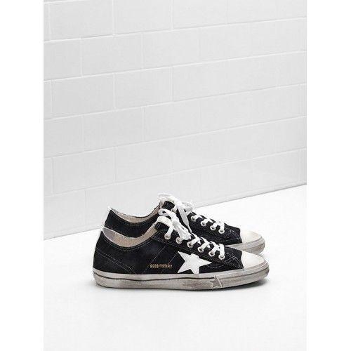 Scarpe Nuovo Golden Goose GGDB V-Star 2 Uomo Sneakers Nero Bianco - Scarpe Golden Goose V-Star Uomo