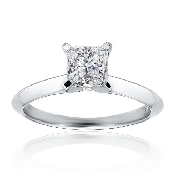 Princess cut ring. So simple, elegant and beautiful