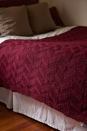 Mock Cable Blanket - Knitting Patterns and Crochet Patterns from KnitPicks.com…