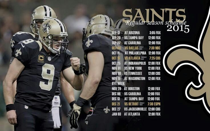 2015 New Orleans Saints Schedule