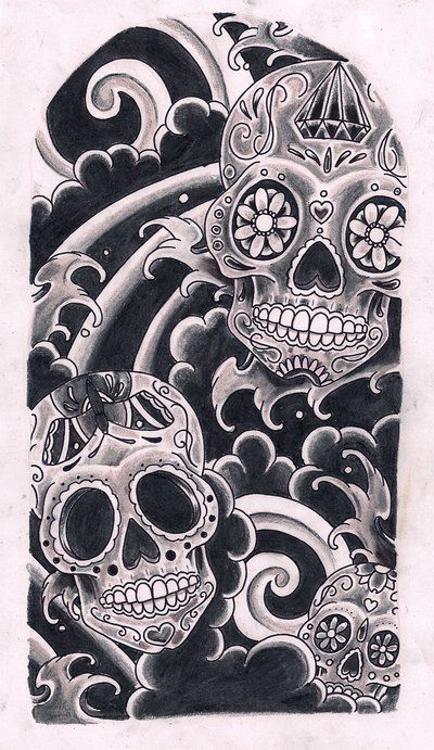 Sugar Skull Art | Sugar Skulls By Kirzten On Deviantart - Free Download Tattoo #8256 ...