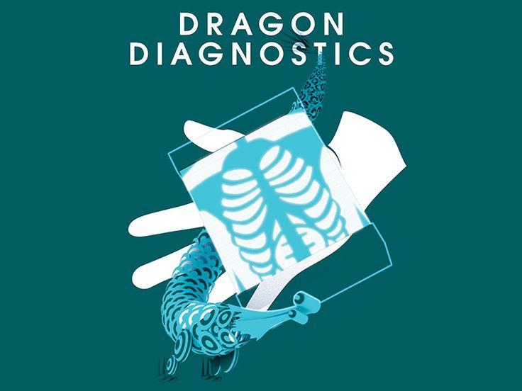Dragon Diagnostics Poster:   Poster design for the pseudo organisation dragon Diagnostics for antibiotic apocalypse comic Surgeon X