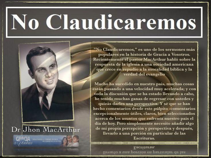 """Dr. Jhon MacArthur: No Claudicaremos """"Que dice la biblia sobre el aborto y el homosexualismo"""" http://youtu.be/cPs94NUiEqY Apocalipsis 21Reina-Valera 1960 (RVR1960) 8 Pero los cobardes e incrédulos los abominables y homicidas los fornicarios y hechiceros los idólatras y todos los mentirosos tendrán su parte en el lago que arde con fuego y azufre que es la muerte segunda. La culpabilidad del hombre 18 Porque la ira de Dios se revela desde el cielo contra toda impiedad e injusticia de los…"""