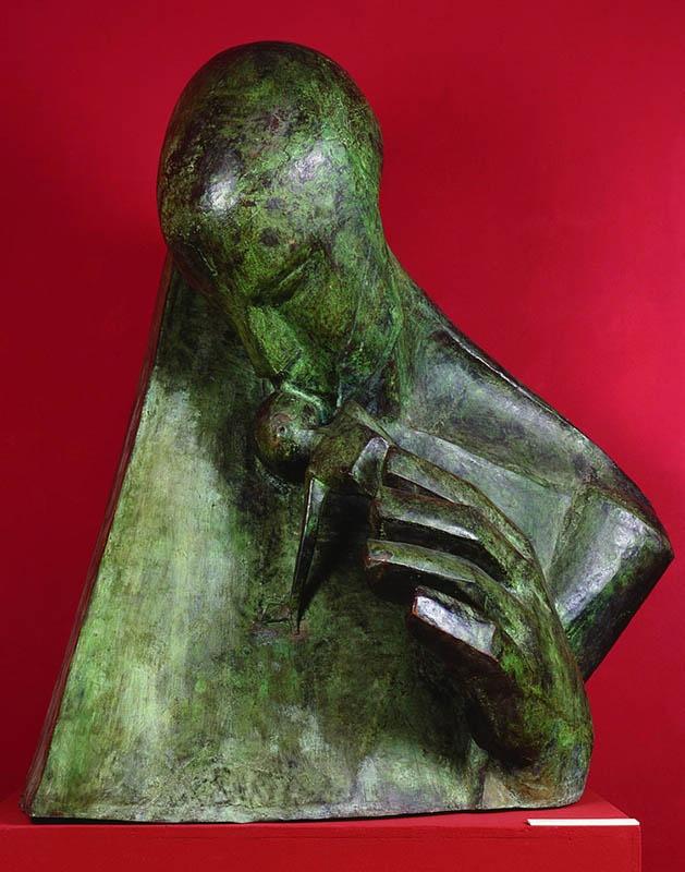 xawery dunikowski, tchnienie, 1903, polichromowany gips