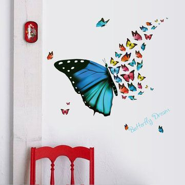 Honana DX-367 Colorful Butterfly Wall Sticker Removable Fridge Home Decor Bedroom Art Applique at Banggood