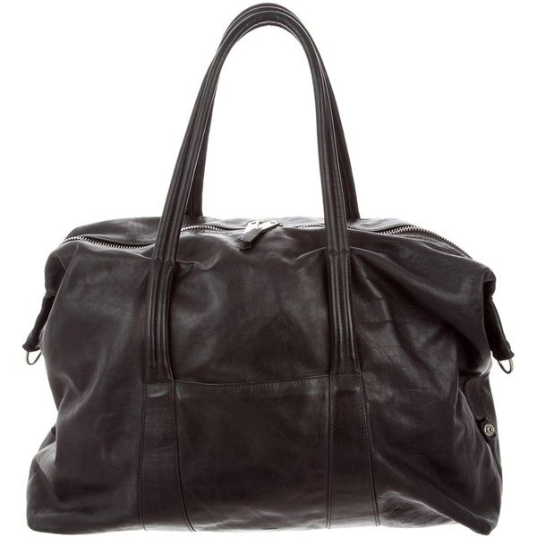 Pre-owned Maison Margiela Leather Weekender (27.965 RUB) ❤ liked on Polyvore featuring men's fashion, men's bags, black, mens leather overnight bag, mens weekender bag, men's weekender, mens leather bag and mens overnight bag