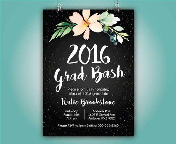 Graduation Announcement Grad Party 2016 Grad by SimpleandStunning2