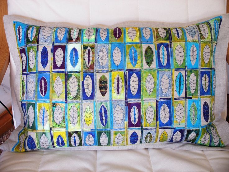 Angie Hughes/Angie's textile notes: Feathers and Leaves