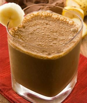 Chocolate Peanut Butter and Banana Smoothie Recipe