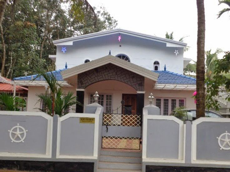 House Compound Wall Design Furnished : House thuppumpadi for sale tar road sitout car porch