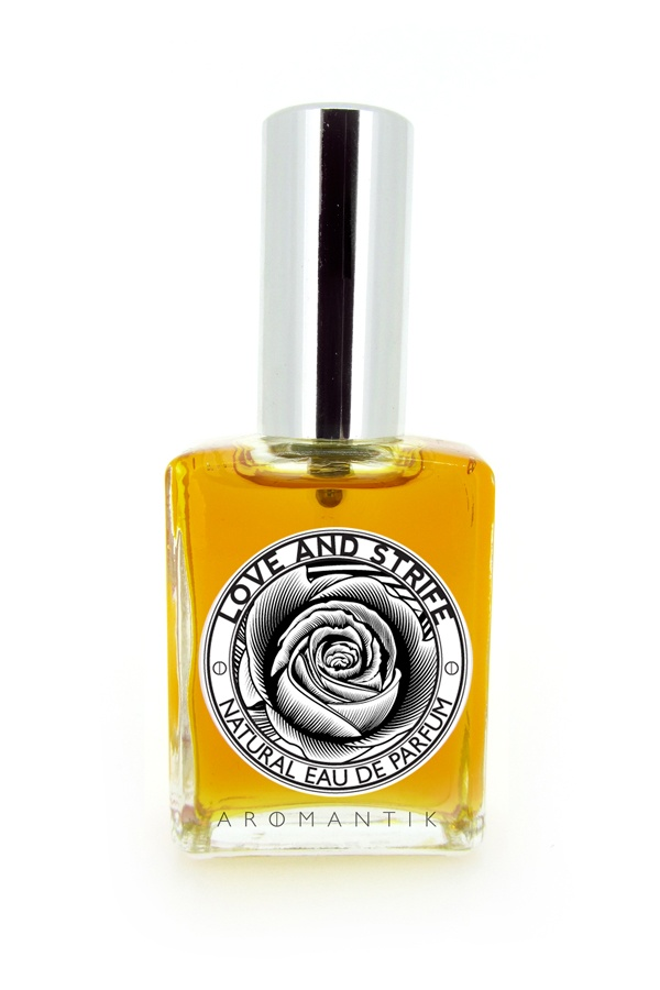 'love and strife' natural eau de parfum spray by Aromantik. www.aromantik.com.au